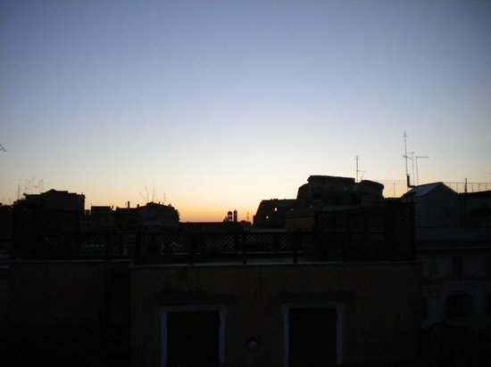 Celio Hotel: View from the roof terrace at sunset.