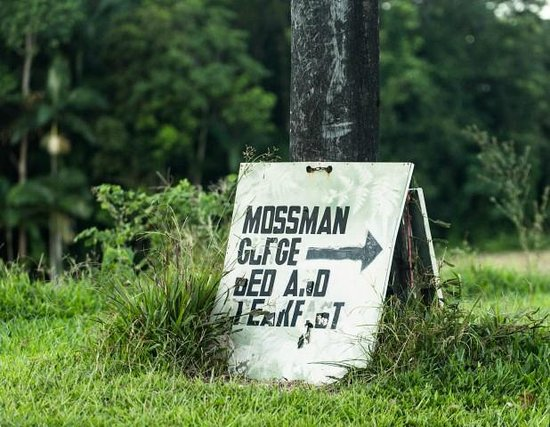 Mossman Gorge Bed and Breakfast: Sign from road