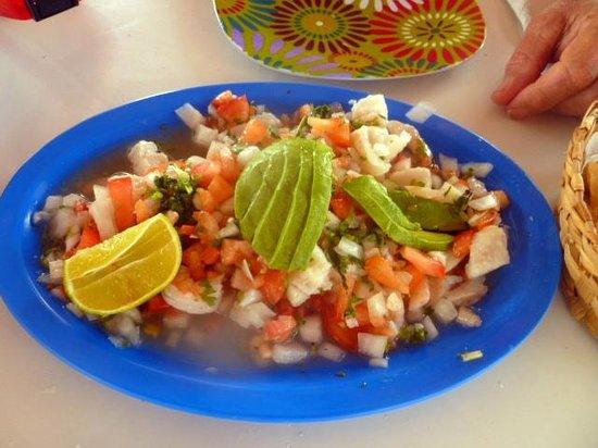 Playa Corona/Corona Beach Club: Ceviche!  So Good!
