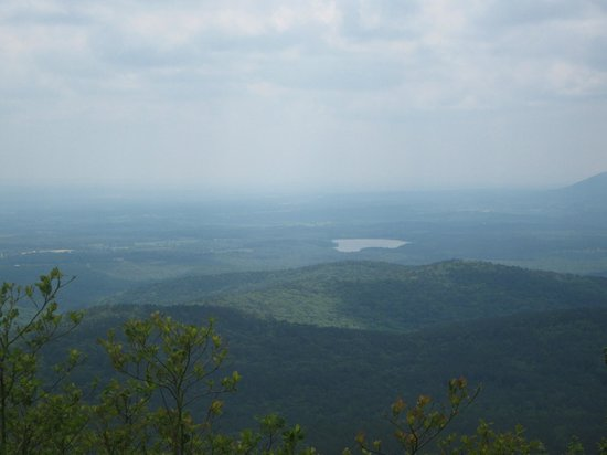 Queen Wilhelmina State Park: View from lookout point on the way up to Queen Wilhelmina