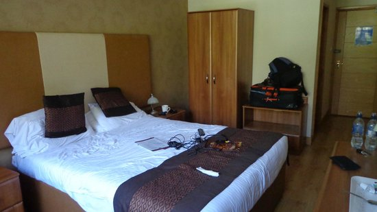 Rowantree Hotel: Our double room facing the car park at rear of hotel