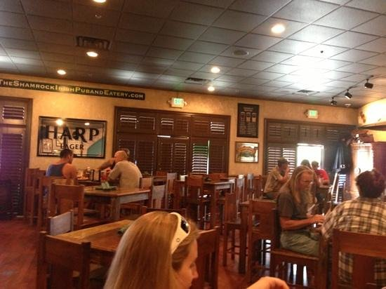 The Shamrock Irish Pub & Eatery: in the pub
