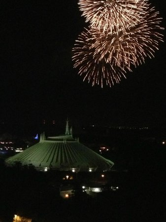 Bay Lake Tower at Disney's Contemporary Resort: View of Wishes from TOTW Lounge