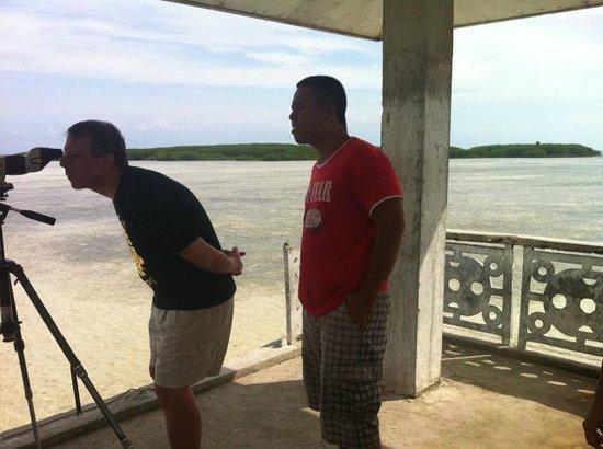 Olango Island: The viewing platform