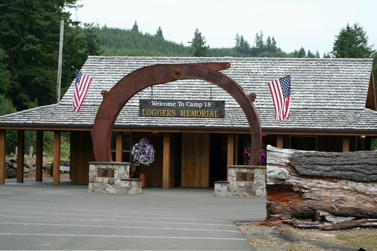 Camp 18 Gift Shop & Restaurant : loggers memorial museum