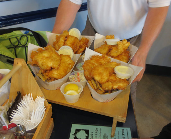 Dicks Fish & Chips: halibut family pack so delicious