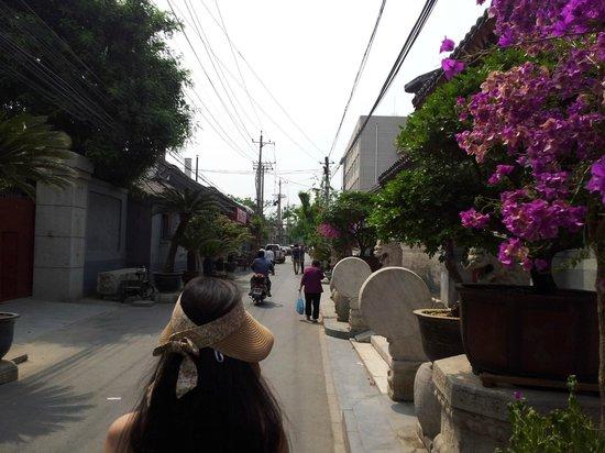 Xiao Yuan Alley Courtyard Hotel: la rue de l'hotel