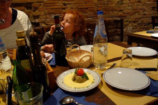 Da Gagliano: Starters - tart of vergetables and pecorino sauce