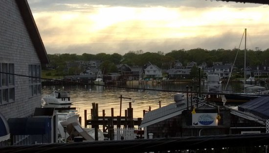The Dockside Inn: View of the harbor from the balcony outside Room 22.