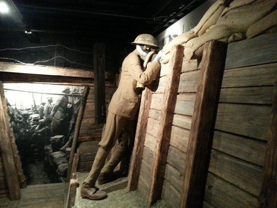 Woodrow Wilson Presidential Library and Museum: WWI Trench Display