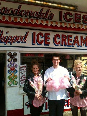 Cleethorpes Rock Company: The icecream shop.
