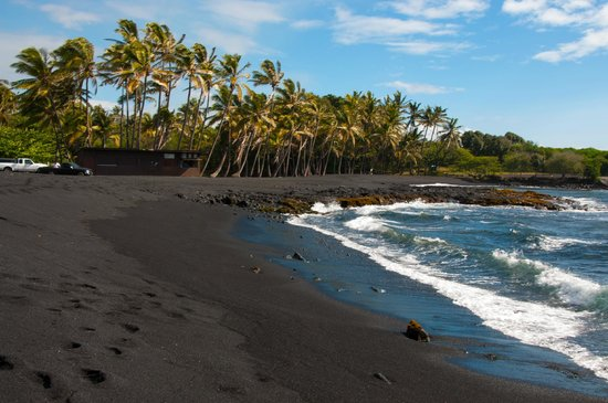 Image Gallery Punaluu: black sand beach hawaii