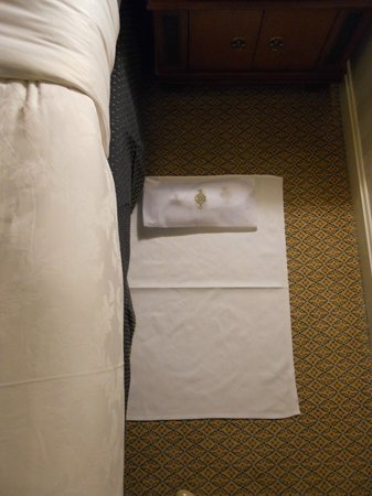The Langham, Boston: Slippers set out during nightly turn down service.