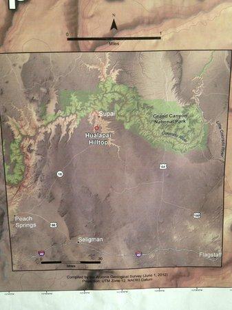 Map - Picture of Havasu Falls, Supai - TripAdvisor Map Of Havasupai Falls on map of meteor crater, map of shoshone falls, map of grand canyon region, map of utah, map of havasu falls, map of monument valley, map of mooney falls, map of canyon de chelly,