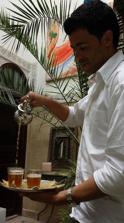 Riad Aguerzame: Aziz Serving Mint Tea