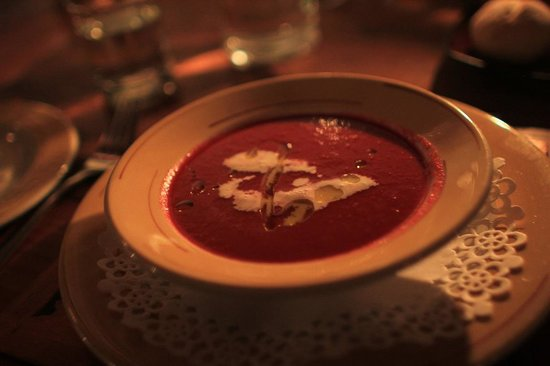 زوس لودج: delicious soup