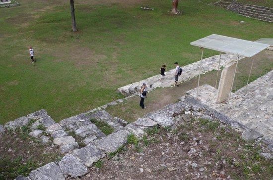 Mayan Ruins of Bonampak: looking down