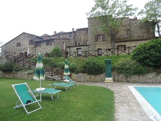Rocca di Cispiano: view from the pool side of the whole property