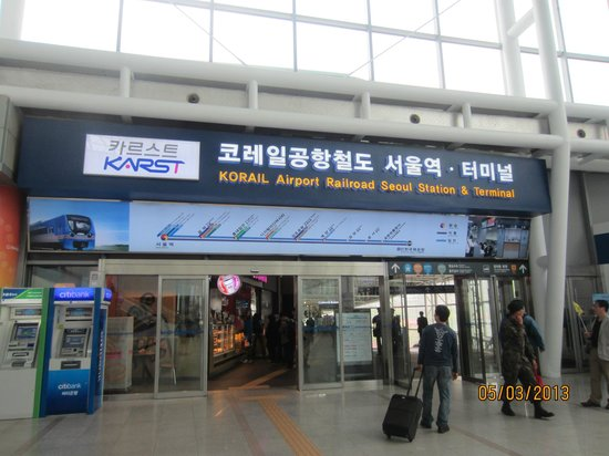 Inside Seoul station, Seoul - Picture of KTX (Korea Train Express ...