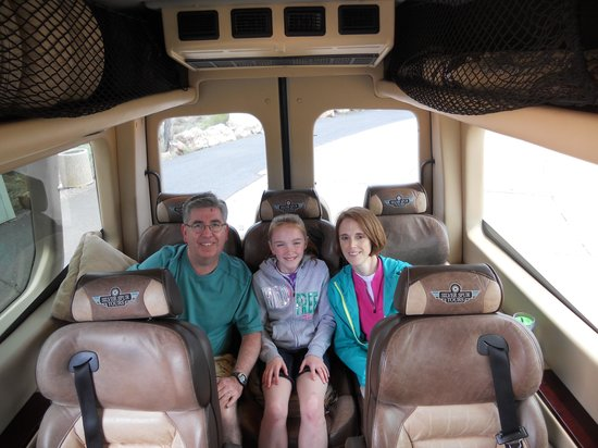 Silver Spur Tours - Day Tours: Relaxing in the luxurious SST van