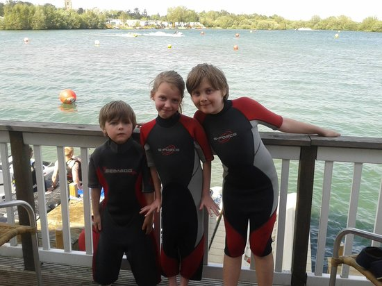 Tattershall Lakes Country Park: our children enjoying the beautiful lakes