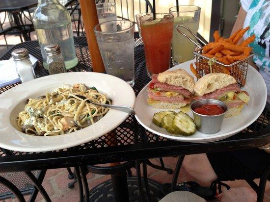 Current Restaurant: Pasta & chicken, sandwich & Sweet potato frieds