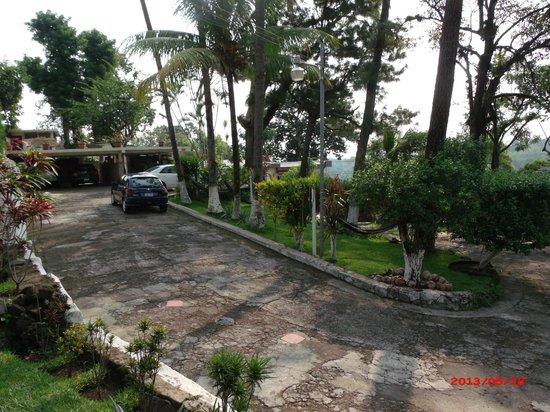 Hotel Villa Napoli Bed & Breakfast: Driveway on very pretty verdant property