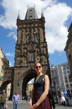 Sightseeing Prague: Eva at Powder Tower