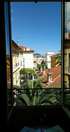 Hotel Villa Les Cygnes: View from the window