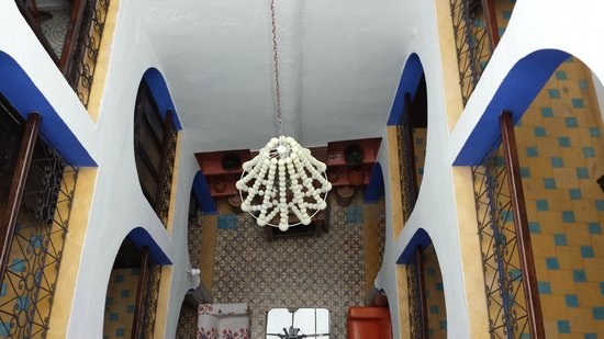 Riad Assilah Chefchaouen: View of atrium from 3rd floor