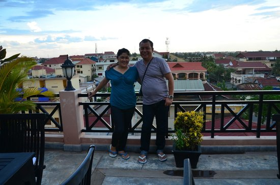 Claremont Angkor Boutique Hotel: magnificent view from the roof top