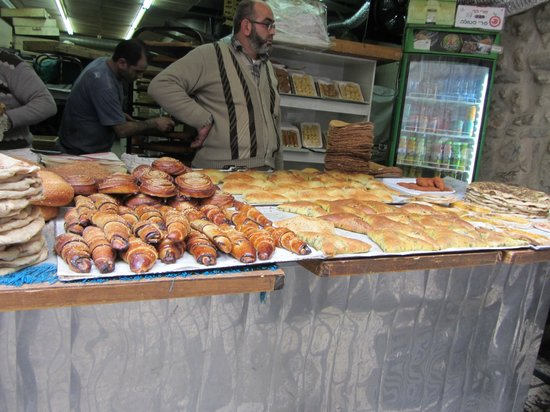 Das moslemische Viertel: Bread  stall