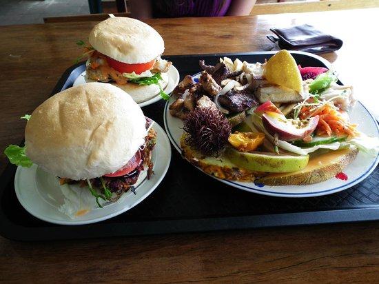 Big Barramundi BBQ Garden: True Blue meal with barra burgers