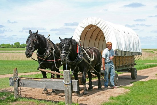 Ingalls Homestead - Laura's Living Prairie: The covered wagon ride and the super nice young man who ran it