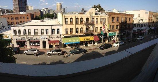 مياكو هوتل لوس أنجلوس: View from the gym.