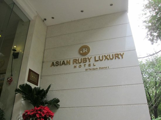 Asian Ruby Luxury Hotel: outside sign
