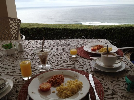 Brenton On The Rocks Guesthouse : cooked breakfast