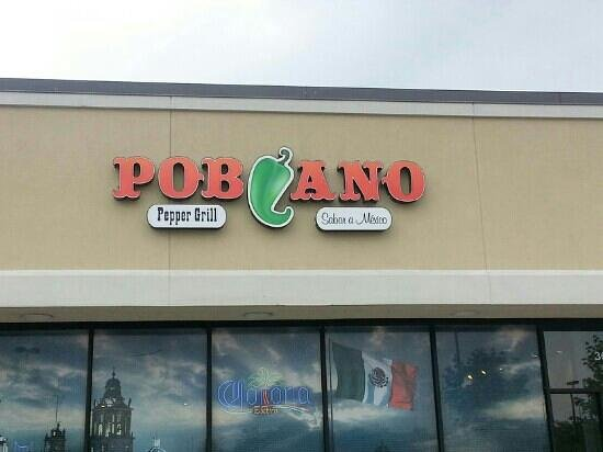 Poblano Pepper Grill: sign