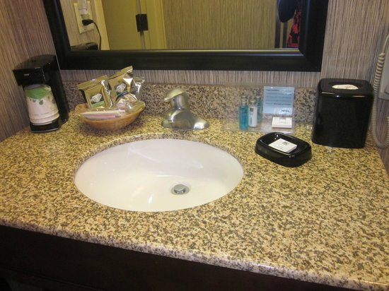 Hampton Inn Scranton at Montage Mountain: Sink in bathroom--lots of counter space