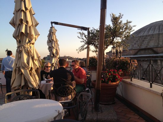 The Albergo del Senato's rooftop bar