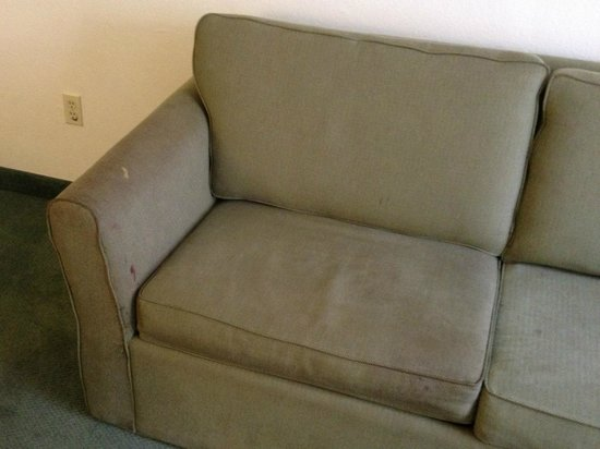 Extended Stay America - Austin - North Central: Stained couch