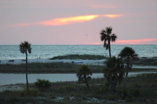 Surf Beach Resort: Sunset view from my deck, stunning!