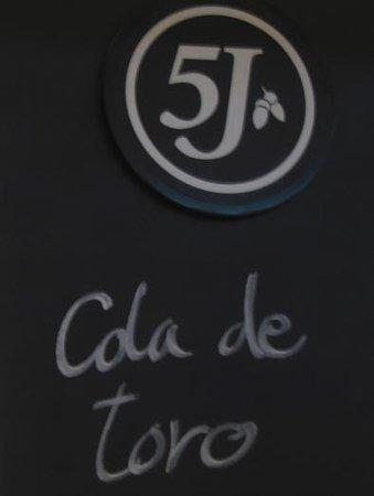 Restaurante Cinco Jotas: 店内