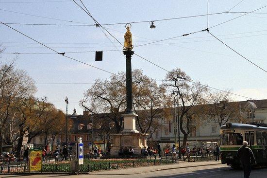 Am eisernen Tor: Die Mariensäule