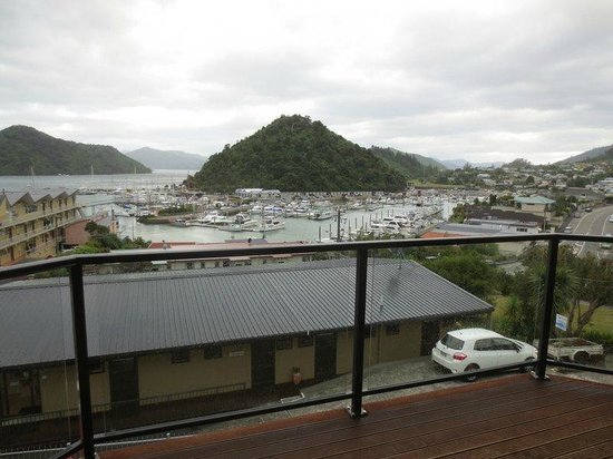 Harbour View Motel Picton: View from balcony of harbor beyond