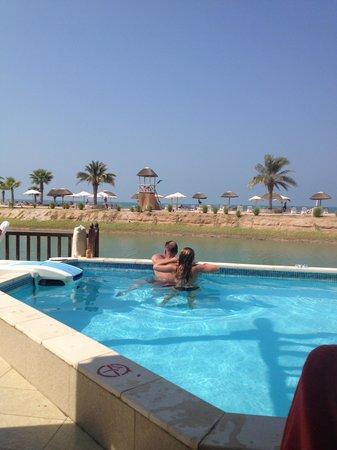 The private pool in the Villa
