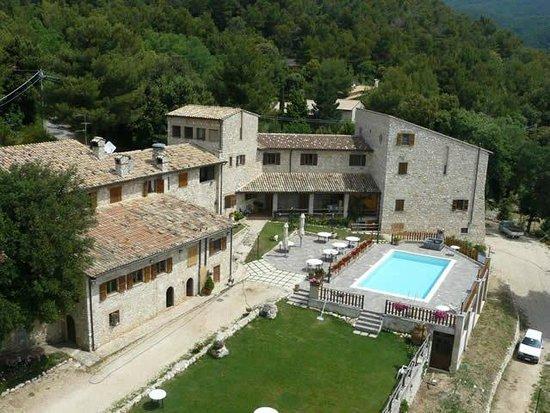 Campello sul Clitunno, إيطاليا: Vista dall'alto