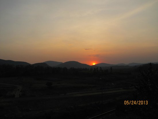 Araku Valley, India: Sunset view from room