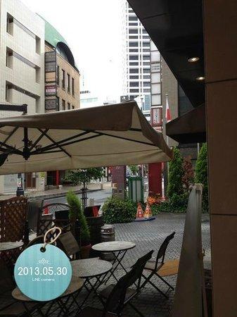 APA Villa Hotel Akasakamitsuke: 朝食終了後、ホテルの入り口から