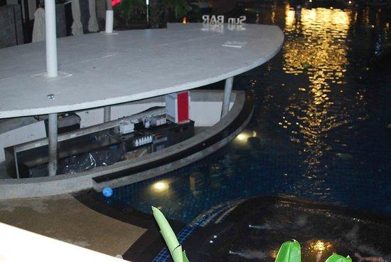 Deevana Plaza Phuket Patong : from balcony overlooking the pool at night